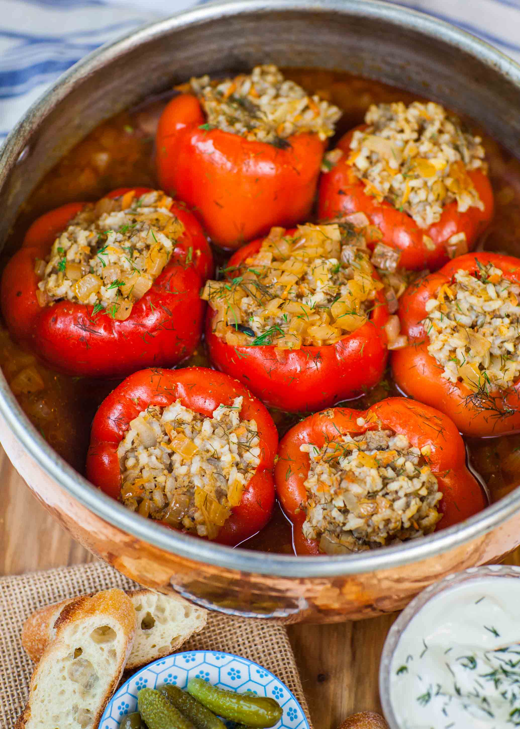 How to make stuffed pepper with rice